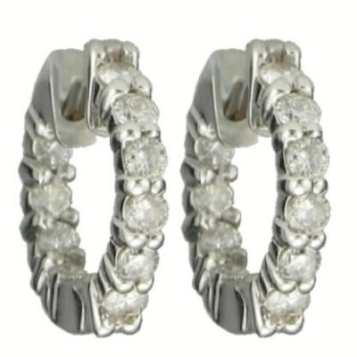 Diamond Huggie Earrings 1.00ct