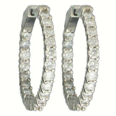 2.00ct total Diamond Huggie Hoope Earrings