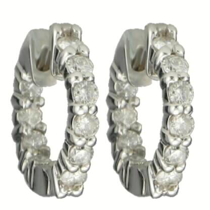 Diamond Huggie Earrings 1.00ct