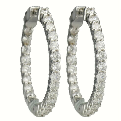 23 DIAMOND HUGGIE EARRING HOOPS 1.50CT