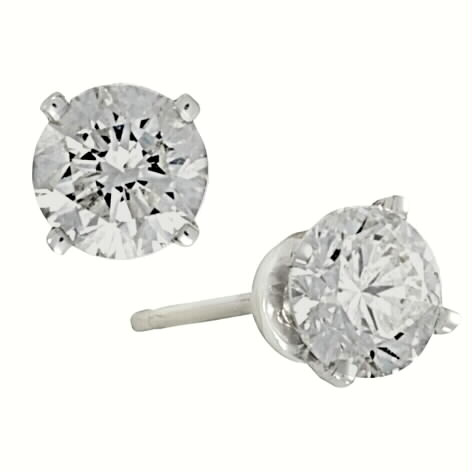 Diamond Studs 4 prong I3 clarity H-I color