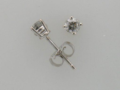 .25ct TOTAL DIAMOND STUD 4 PRONG EARRINGS C QUALITY