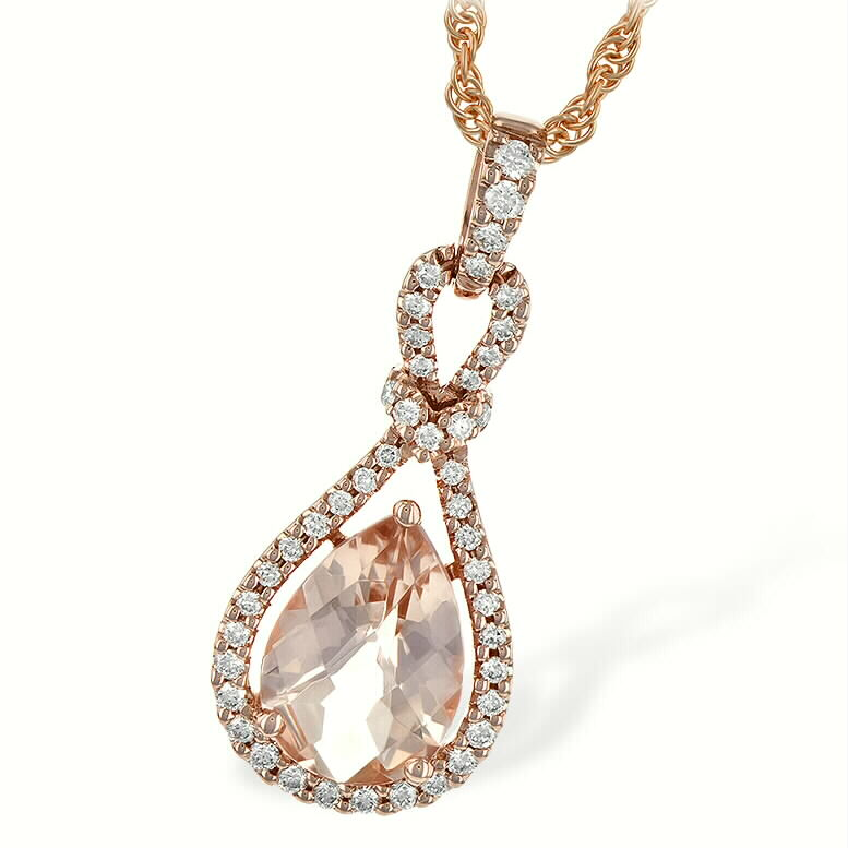 Morganite Pear Pendant