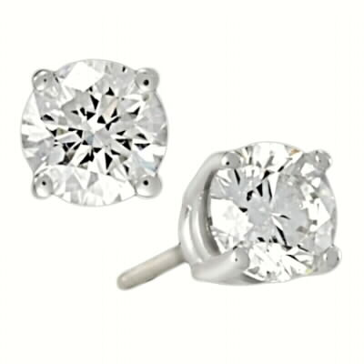 4 prong diamond studs B quality