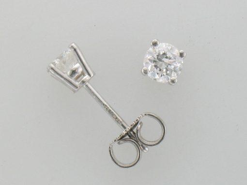 .50ct total DIAMOND STUD 4 PRONG EARRINGS B QUALITY