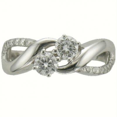5/8 carat total diamond weight 2 diamond band 14k white gold