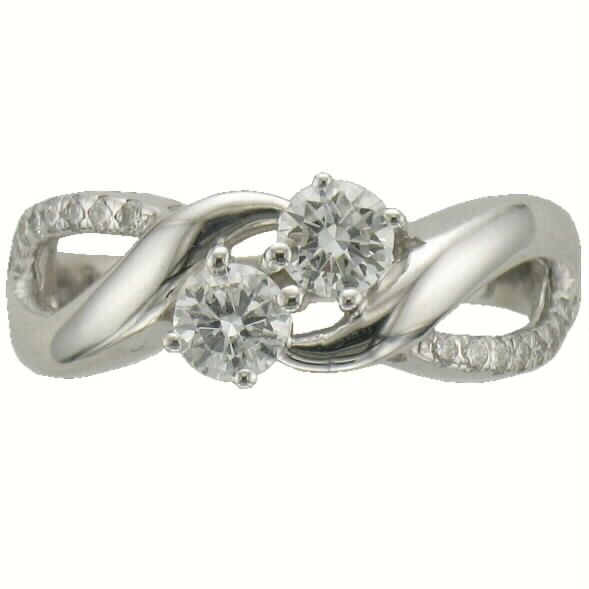 wedding white gold ring twisted rings pid two diamond accented stone