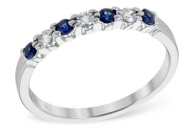 .28 carat total sapphire and diamond in 14k white gold