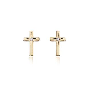 D for Diamond Cross Earrings AvwO7SRYV