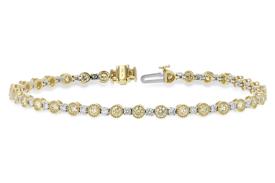 Yellow And White Gold Bracelet With Diamonds Best