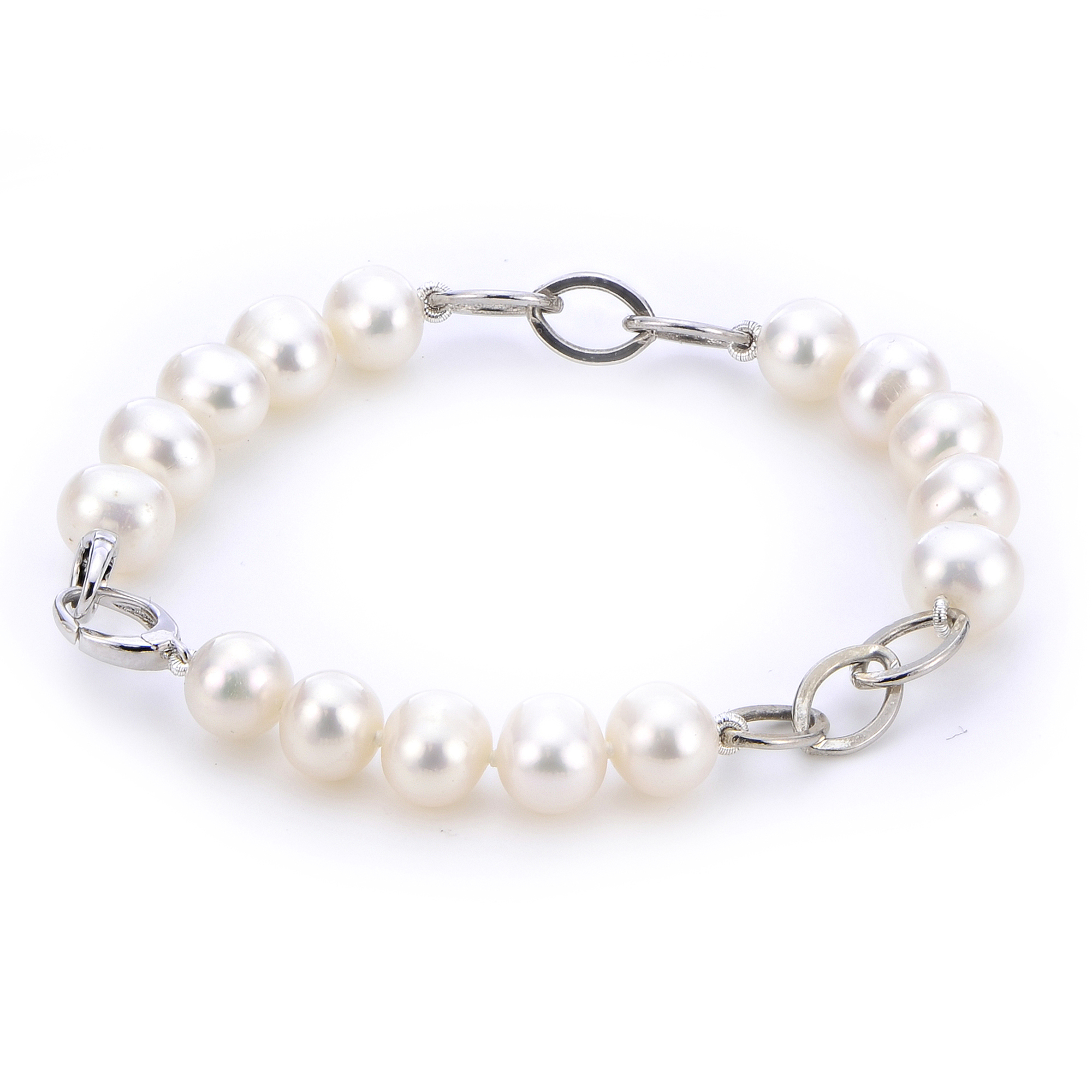 classic clasp bracelet with pearl gold freshwater white ball products