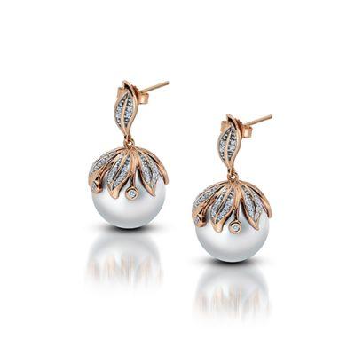 14K Rose Gold Freshwater Pearl Earrings