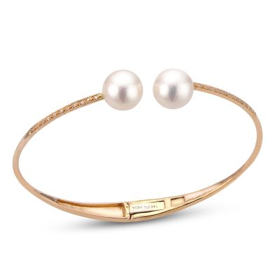 14K Rose Gold Freshwater Pearl Bracelet