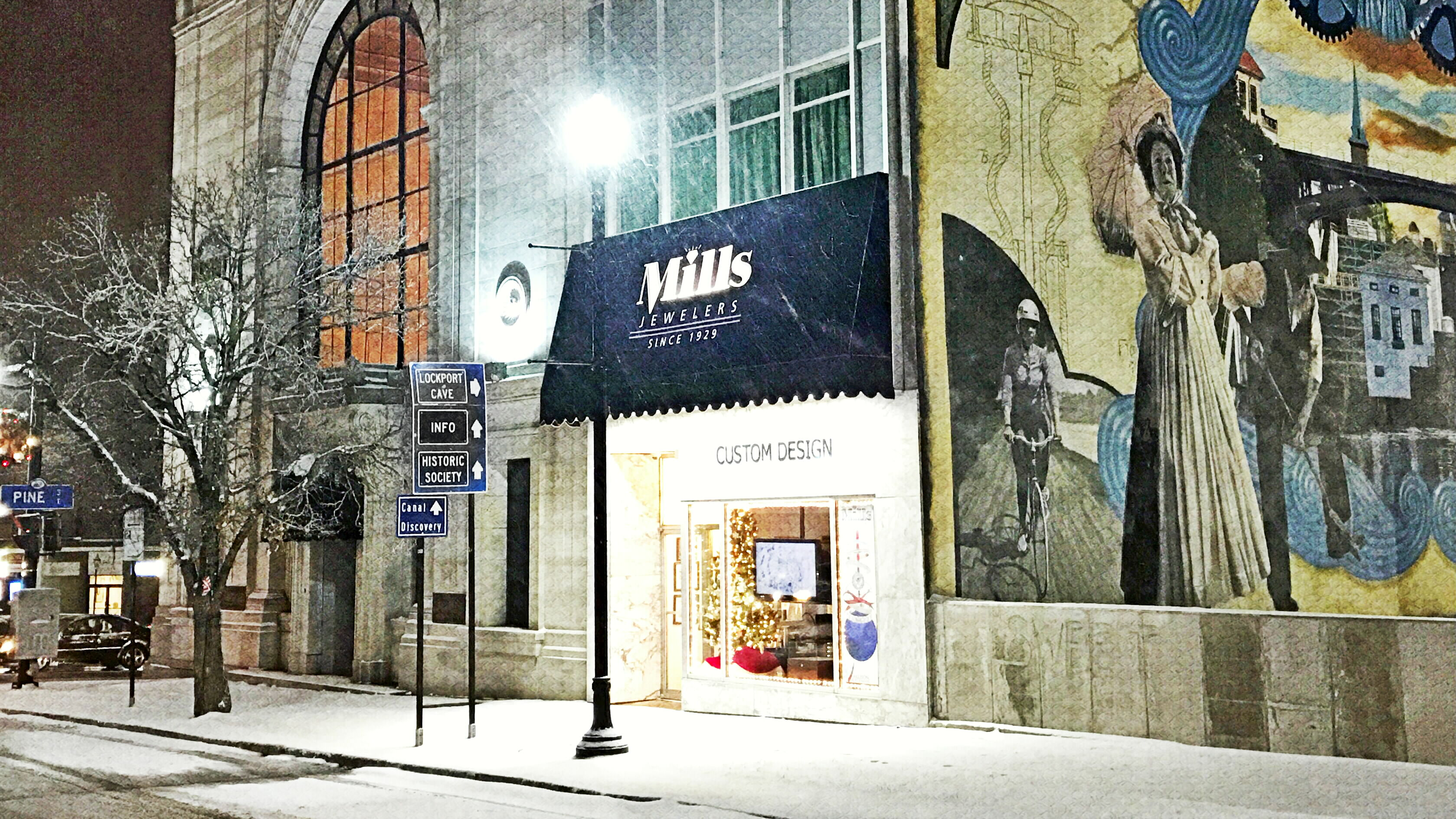 Mills Storefront Christmas