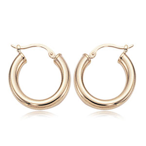 14k yellow gold 3x18mm Small Tube Hoop Earrings