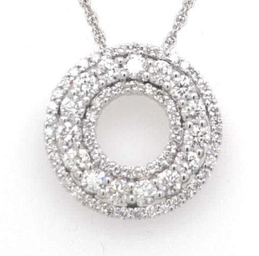 triple circle diamond pendant