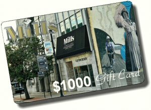 Winning 1000 gift card from Mills Jewelers