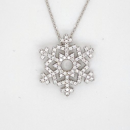 84 Diamond Snowflake Pendant