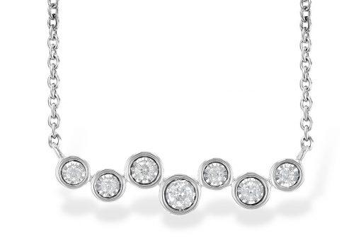 7 Diamond Champagne Bubble Necklace