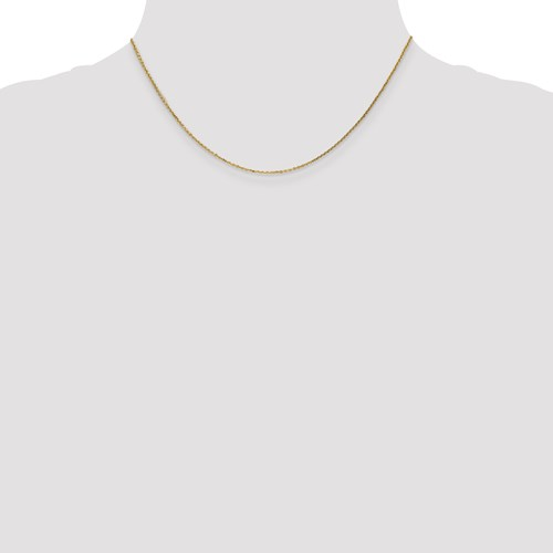 16 inch 14k yellow gold Cable chain with lobster clasp