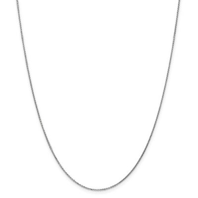 14k White Gold inch Cable Chain with Lobster Clasp