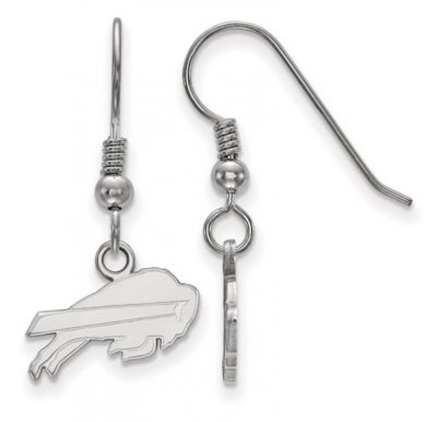 Buffalo Bills Small Dangle Earrings 30 mm Length 14mm width Sterling silver with anti-tarnish rhodium plating.