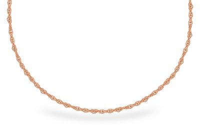1.5MM 14KT 18 INCH ROSE GOLD ROPE CHAIN WITH LOBSTER CLASP