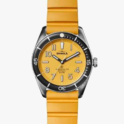 water-proof watch, canary yellow