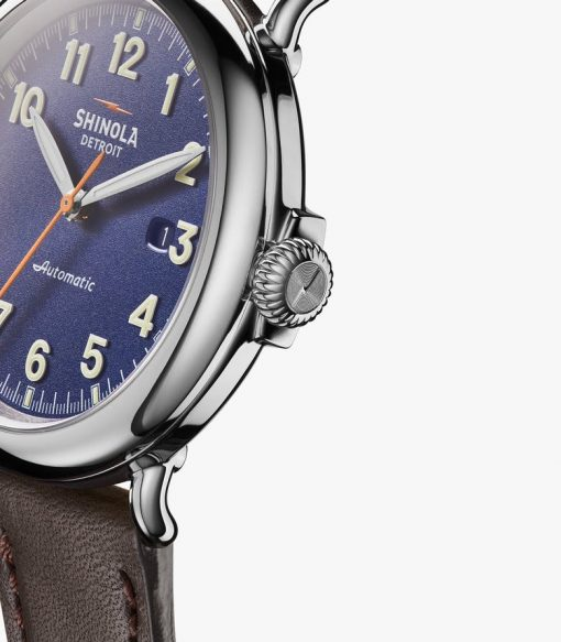 Shinola, Runwell Automatic, royal blue dial