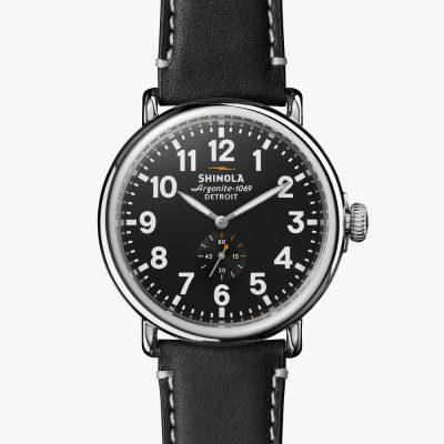 shinola, watch, black dial