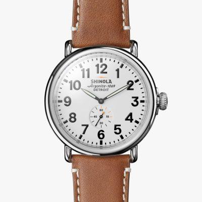 Runwell, Shinola, watch, white dial