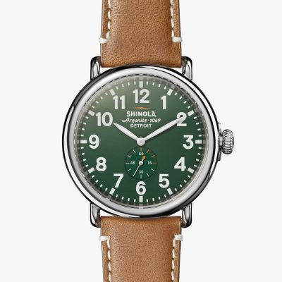 Runwell, Shinola, watch, green dial