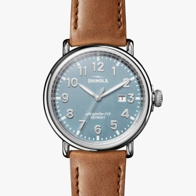 47mm, stone blue dial